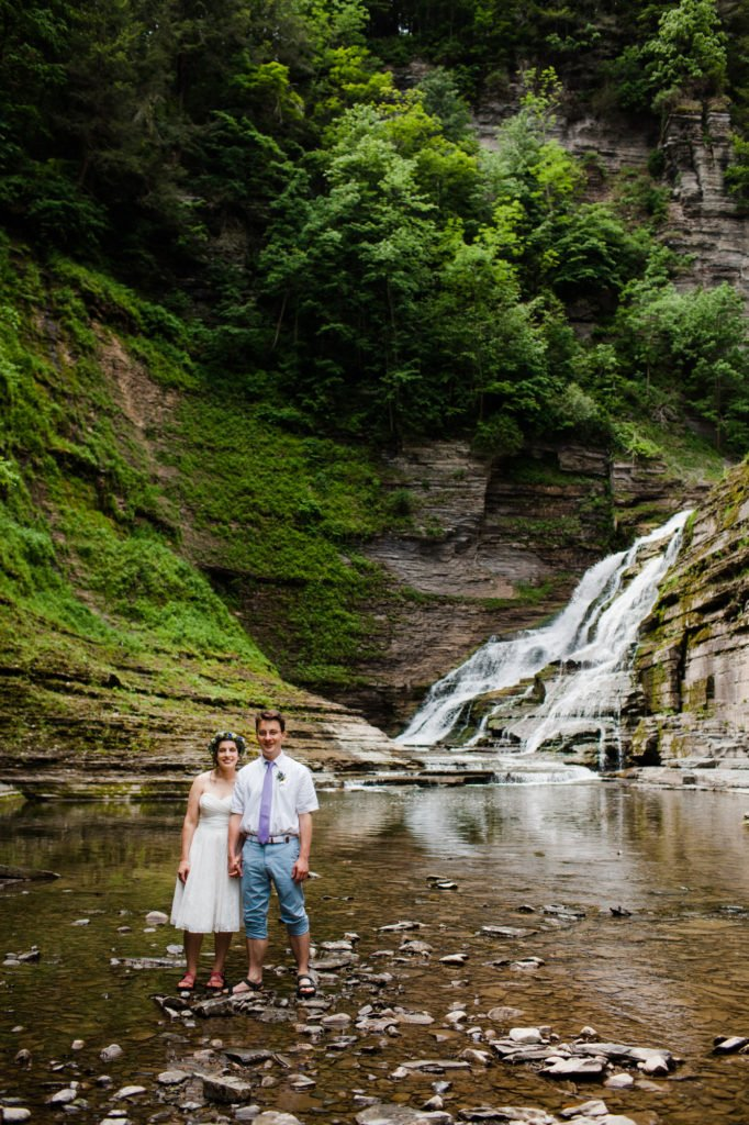 Treman State Park Wedding at North Pavilion, Treman State Park Cabins, Treman State Park Rim Trail, and Treman State Park Gorge Trail in Ithaca, NY