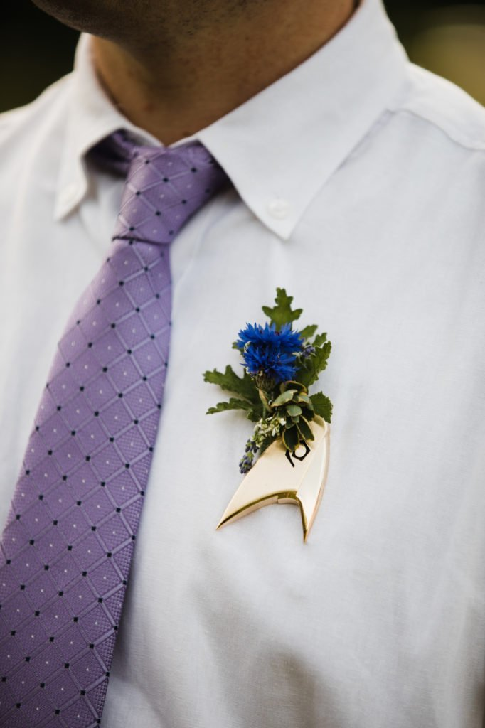 Star Trek boutonniere by take your pick flower farm